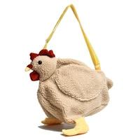 SMOOZA Women Fashion Shoulder Messenger Bags 2021 Cute New Cartoon Plush Big Cock Bags Girl High Quality Large Capacity Bags