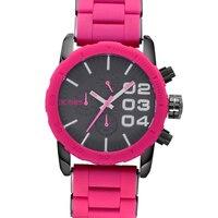Wielka wyprzedaż piękny zegarek ceramiczny Big Case fuksja i fioletowy sportowy design 6 igieł zegarki dla kobiet