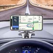 ANMONE אוניברסלי רכב טלפון מחזיק קליפים עבור Xiaomi סמסונג Smartphone GPS Stand רכב לוח המחוונים Rearview מראה טלפון מחזיק קליפ