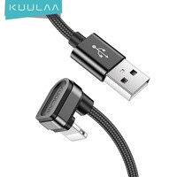 Kulaa-肘USBケーブル,ゲーム用,高速充電,携帯電話用,iPhone 12 11 pro max xs xr x 8 7 6 s plus 5 ipad 4 3