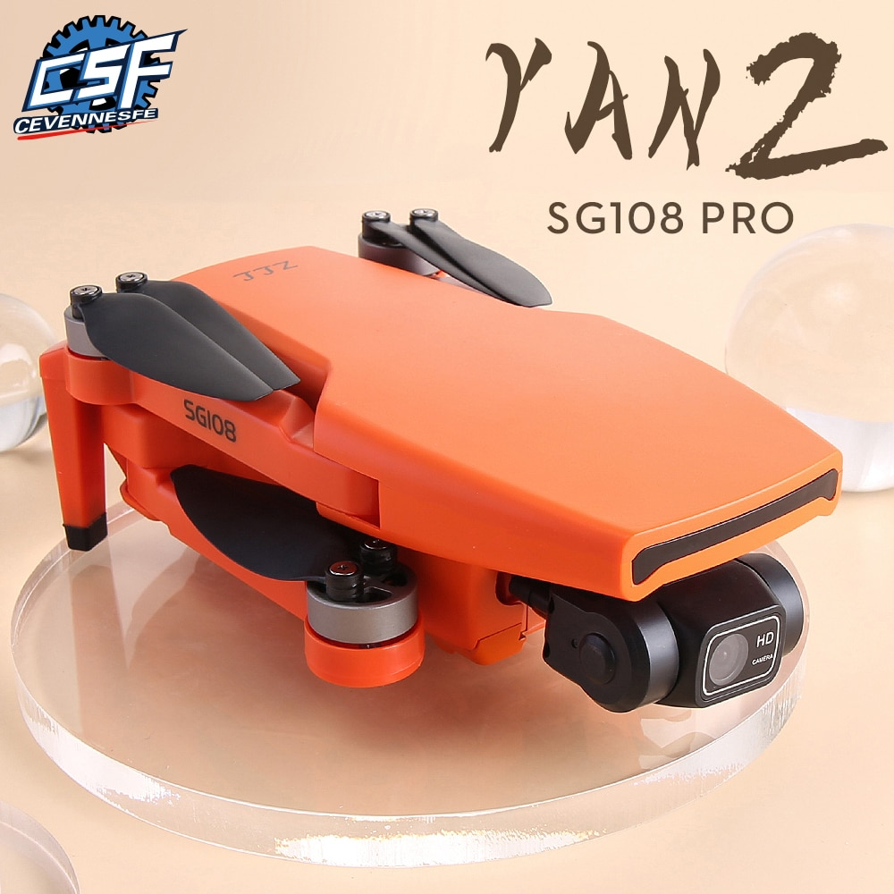 Dron SG108 Pro / SG108 4k HD 2 ejes cardán Cámara FPV 5G WiFi GPS 28 minutos tiempo de vuelo plegable Quadcopter juguetes VS EX5, 2021