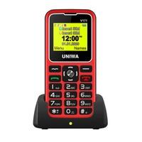 Uniwa v171 smartphone 2g gsm mt6261d, dual sim, 1000mah, 1.77 ''0,08mp, câmera tocha, mp3, estudantes, idosos, pk v808g