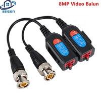 10 Pairs HD 8MP Video Balun CCTV Twisted Pair Transmitter Connecter Video Baluns Für TVI/CVI/AHD Kamera