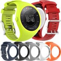 폴라 M200 gps용 스포츠 실리콘 손목 밴드 스트랩, 시계 스트랩 밴드, 스포츠 Smartwatch 교체 시계 밴드 팔찌 도구
