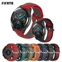FIFATA 스마트 워치 팔찌 스트랩 화웨이 시계 GT2 / GT 2 프로 실리콘 시계 밴드 명예 매직 1/2 46mm 스포츠 손목 스트랩