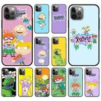 漫画r-rugratアニメケースiphone 11 12プロマックス電話カバーiphone 7 8プラスSE2020 × xr xs最大高級バックシェル