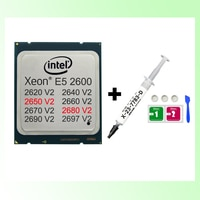 Intel Xeon Prozessoren mit Thermische Fett E5 2680 V2 10 Kerne 20 Themen 2697 V2 12 Kerne 2690 V2 Bergbau CPU Computer Teile DIY