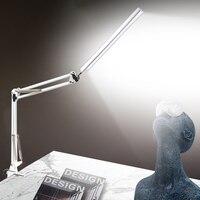 מגע LED מתקפל מנורת שולחן קליפ ארוך זרוע הגנת עין קריאת מנורת שולחן USB משרד שולחן אור מקורה תאורה