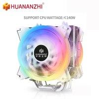HUANANZHI A600 4 Kupfer Heatpipe 12V 4PIN CPU Kühler Dual Silent Lüfter Für Intel 115x 2011 1366 AMD AM4 AM3