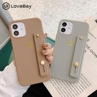 Lovebay愛ハート手首ストラップシリコン電話ケースiphone 11 12プロマックスミニx xr xs最大7 8プラスse 2020ソフトtpuバックカバー
