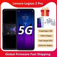 Globale Rom Lenovo Legion 2 Pro 5G Gaming SmartPhone Snapdragon 888 Octa Core 64MP Ultra Clear Kamera 6,92 zoll 144Hz AMOLED