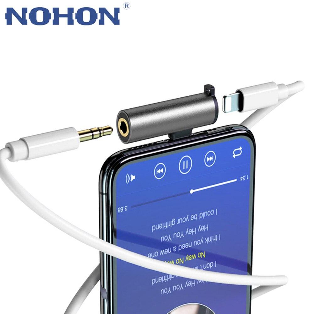 Conector 2 en 1 para Lightning a 3,5mm auriculares Audio cambiador adaptador divisor para iPhone 7 8 Plus 11 Pro X XS Max XR XSMAX 11pro 10 Dual Plug