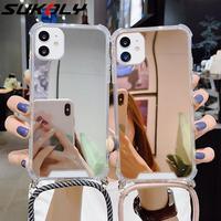 ストラップコードチェーンテープネックレスストラップ電話ケースiphone 12 11 pro x xr xs最大6 6s 7 8プラスアクリルミラー裏表紙