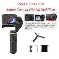 INKEE FALCON Action Camera Gimbal Stabilizer Handheld for OSMO Insta360 GoPro Hero 10 9/8/7/6/5 3 Axis Anti-Shake Wireless