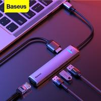 Baseus USB C HUB Typ C zu HDMI RJ45 Ethernet Multi Ports USB 3,0 USB 3,0 PD Power Adapter Für macBook Pro Air Dock USB-C HUB HAB