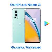 Globale Version OnePlus Nord 2 5G Mobiltelefon Dimensity 1200-AI Octa Core 6,43 Inch Flüssigkeit AMOLED 50MP Triple Kamera NFC wiFi 6