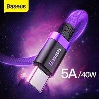 Baseus 5A Aufzurüsten USB Typ C Kabel fürhuawei Telefon USB C Quick Charge 3,0 Kabel USB C Ladegerät Telefon lade USB Draht Kabel