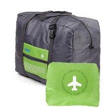 Neue 32L Große Kapazität Reise Hand Gepäck Tasche Große Größe Klapp Tragen-auf Duffle tasche Faltbare Nylon Reisetasche fashion Duffle Tasche