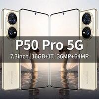 Globale version p50 smartphone 7,3 Zoll 16 + 1tb 36mp + 64mp hd kamera 6800mah 5g android netzwerk