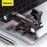 Baseus הכבידה מכונית טלפון בעל מתכת אוטומטי לשקע אוויר Mobilephone Stand עבור 4.7-6.5 אינץ טלפון Invisibile רכב תמיכה