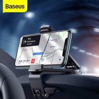 Baseus רכב טלפון מחזיק לוח מחוונים הר Stand עבור iPhone 11 פרו Xs מקס נייד טלפון תמיכה מחזיק עבור סמסונג Xiaomi huawei