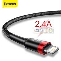 Baseus USB Kabel für iPhone 12 11 Pro Max Xs X 8 Plus Kabel 2,4 EINE Schnelle Lade Kabel für iPhone 7 SE Ladegerät Kabel USB Daten Linie