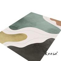 Reese Print Geometric Area Rug Floor Decoration Carpet Customized For Living Room Kitchen Bedroom Study Restaurant Anti Slip