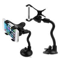 יוניברסל 360 ° רכב Rearview מראה תמיכה טלפון מחזיק טלפון סלולרי Stand גמיש מתכוונן בית עצלן סוגר טלפון GPS