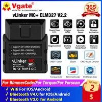 Vgate vLinker MC + ELM327 V 2,2 WIFI OBD2 Scanner Bluetooth-Kompatibel ICAR PRO 4,0 ULME 327 Für Android/IOS auto Diagnose Werkzeuge