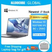 Alldocube Notebook i7 buch Laptop 14,1 Zoll 8GB RAM 256GB ROM 1920 × 1080 IPS Full HD Core i7-6660U Windows 10 OS 13851mWh Batterie