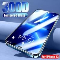 300Dフルカバー保護ガラスiphone 5 13 11 12プロマックス強化ガラスフィルムiphone 13ミニスクリーンプロテクター湾曲縁