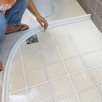 1M Flexible water stopper bathroom kitchen flood barrier rubber dam Dry and Wet Separation door bottom sealing strip dust guard