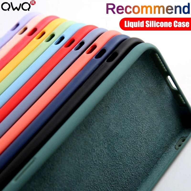 Funda de silicona líquida para teléfono móvil Huawei, Protector suave de lujo Original para Huawei P30 P20 P40 Mate 20 30 Honor 20 Lite Pro P Smart 2019