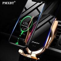 Smart Sensor Auto Drahtlose Ladegerät 10W Qi Schnelle Aufladen Intelligente Infrarot Automatische Spann Telefon Halter Für iPhone 8 Samsung