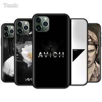 Dj aviciiティムbergling ripシリコーンケースiphone 12ミニ11プロxr x xs最大7 8 6 6sプラス5 5s、se 5C黒ソフト電話バッグ