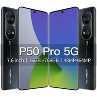 2021 neueste Smartphone P50 Pro 16GB RAM 768GB ROM 7,6 Inch Echt Perforierte HD Bildschirm Smartphone Android 11 entsperrt Handy