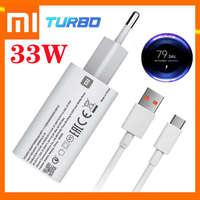 Carregador Turbo Ladegerät Xiaomi Redmi Hinweis 9 Original 33W Power Adapter Schnelle Ladung 5A USB Typ C Kabel Für mi Poco X3 11 10