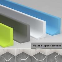 Silicone water barrier for shower bathroom Dry&Wet Separation seal strip Flood stopper Rubber Dam blocker kitchen accessories