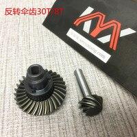 Kyx racing-conjunto de engrenagens diferenciais reversíveis, aço endurecido, resistente, 30t/8t, engrenagem do eixo para crawler 1/10 rc, scx10 ii, 90046