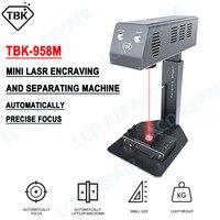 2021 TBK 958M 자동 레이저 백 유리 제거 기계 아이폰 12 프로 최대 휴대 전화 수리 레이저 조각 에칭 도구
