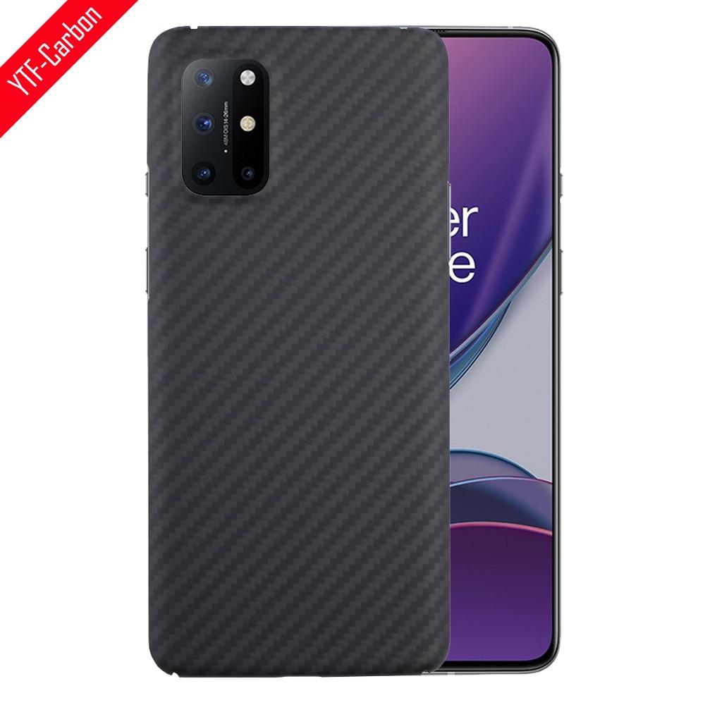 YTF-funda de teléfono de fibra de carbono para OnePlus 8t, material de armadura de fibra de aramida, carcasa protectora ligera y delgada OnePlus 8t