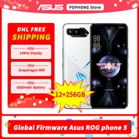 DHL Frei Globale Firmware Original Asus ROG 5 5G Gaming Telefon 6,78 zoll 144Hz Display Snapdragon 888 Octa core 12GB RAM 256GB ROM