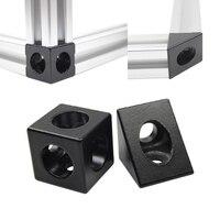 2020 알루미늄 블록 큐브 프리즘 커넥터 휠 레귤레이터 코너 V-슬롯 3 방향 커넥터 90 도 각도