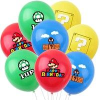12inch Mario Theme Cartoon Latex Balloon Toys Birthday Party Decoration Super Mary Bro Luigi Balloon Toys Children Kids Gift