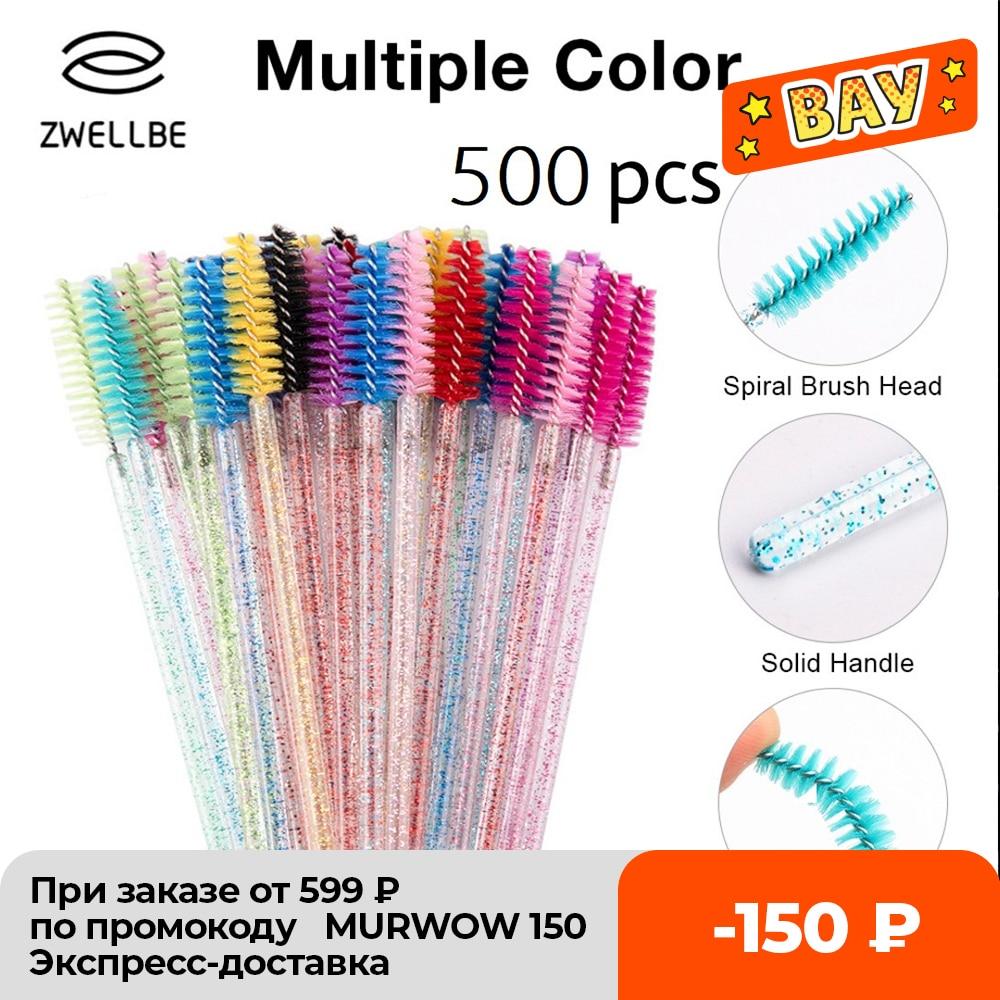 500 unids/pack descartable de cristal de pestañas peine cepillo de pestañas rímel de extensión varitas de maquillaje profesional herramienta de belleza