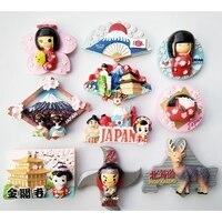 Fridge Magnet Decor Japanese tourist souvenir lucky cat Tokyo Fujiyama Kinkakuji magnetic stickers resin refrigerator stickers
