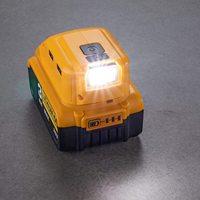 Dewalt 20v Max 18V 배터리 어댑터용 DCB090 전원 교체, 듀얼 USB DC 12V LED 작업등