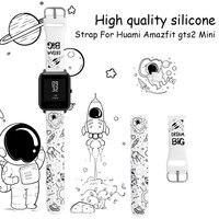 Correa Huami Amazfit GTS2 스트랩 미니 스트랩 GTS 2 GTR 47mm 42mm 팔찌 20mm 시계 인쇄 Amazfit Bip 용 실리콘 스트랩