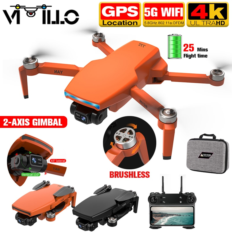 SG108 Pro 2021 GPS 4k Drone 2 Achsen Gimbal Professionelle Kamera 5G WIFI FPV Eders 1KM Entfernung bürstenlosen Motor Rc Quadcopter PK S3