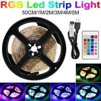 2835 SMD Drahtlose RGB Licht Streifen LED RGB Flexible USB Diode Band Wasserdichte Lampe 5V LED Fernbedienung Band 0,5 1 2 3 4 5M